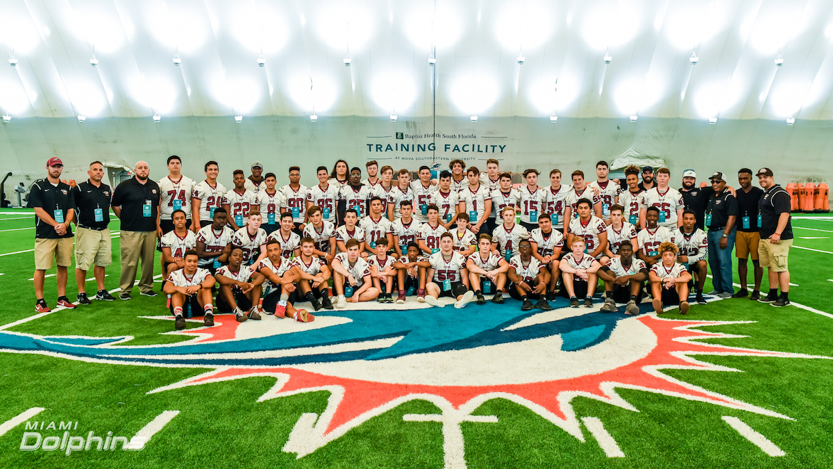 Miami Dolphins Host Marjory Stoneman Douglas High School at OTA Practice