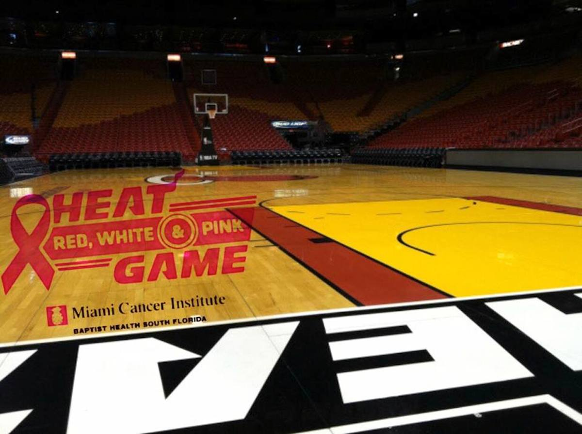 Miami Heat Red, White, & Pink Game