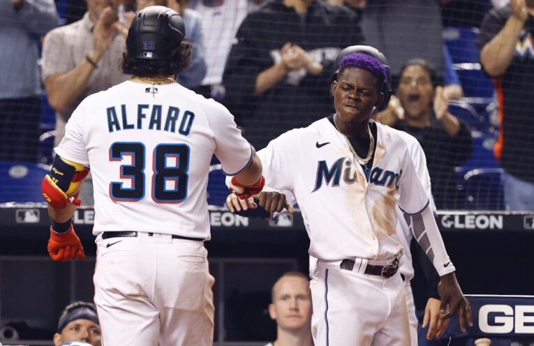 Jorge Alfaro Marlins Dodgers